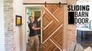 Sliding Barn Door with a Modern Twist Easy DIY Woodworking
