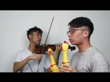 J. Strauss - The Blue Danube Waltz (Chicken Version)