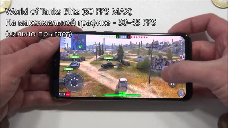 BQ-6200L Aurora, игротест с FPS (PUBG, Asphalt 8, и т.д.)