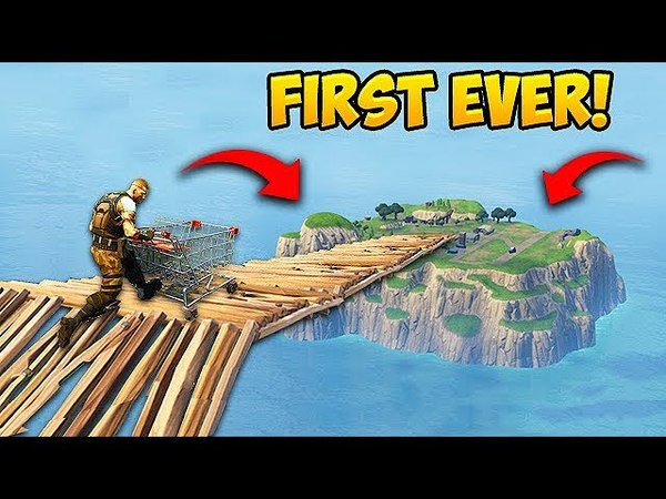 *FIRST EVER* Shopping Cart On Spawn Island! - Fortnite Funny Fails and WTF Moments! 219