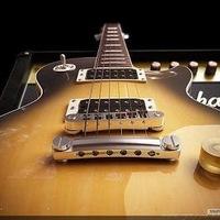 Gibson Les Paul и Marshall VintageModern 2266c.  Работа сделана в 3ds Max 2008, V-Ray, Photoshop CS3.