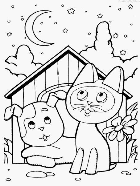 Раскраски для детей мультфильмы распечатать бесплатно