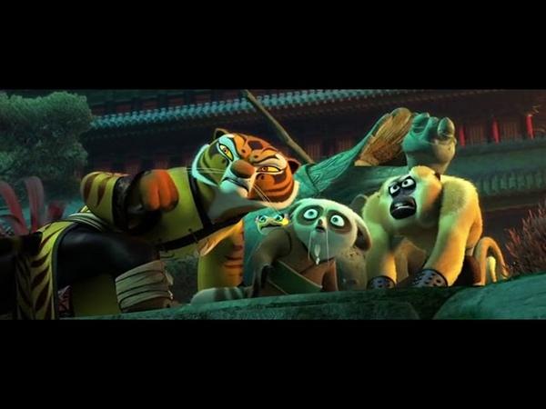 Кунг фу панда 3 Кай против Нестеровой пятерки и Мастера Шифу