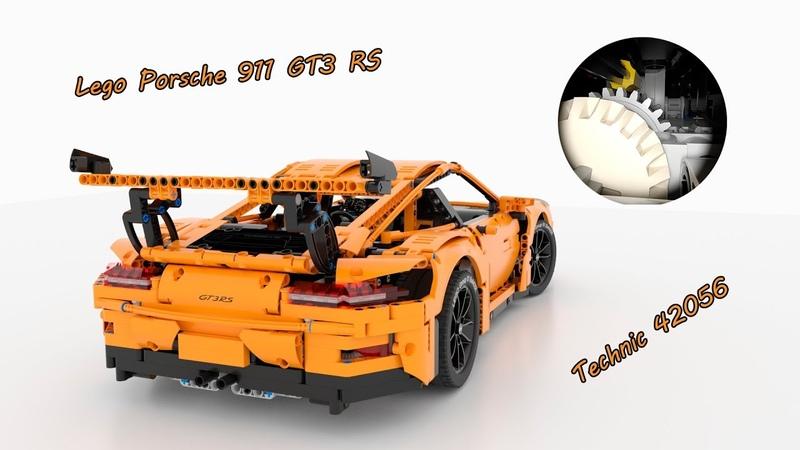 3d Presentation Lego Technic Porsche 911 GT3 RS 42056