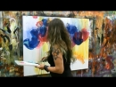 Acrylicpainting Demo Timelapse painting - abstract painting floral art by zAcheR