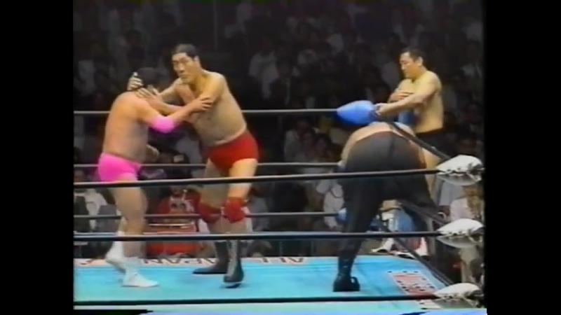 1993.06.01 - Giant Baba/Mighty Inoue/Rusher Kimura vs. Abdullah The Butcher/Haruka Eigen/Masanobu Fuchi