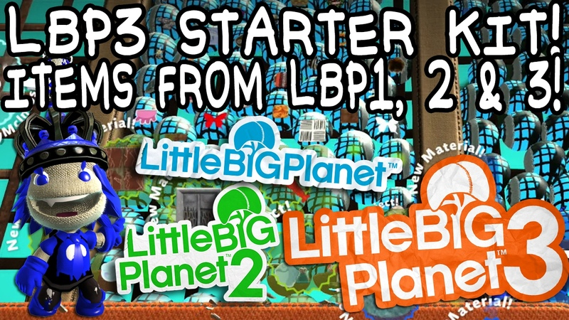 LittleBigPlanet 3 Starter Kit: Get tons of items from LBP1, 2 and 3!