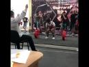 Кушхов Аслан (20 лет, весит 80 кг) на штанге 225 кг