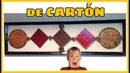 DIY manualidad con cartón craquelado con pinturas acrílicas