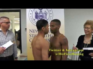 Broadway Boxing Weigh In For 4/10 Event At BB Kings