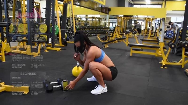Неистовый тренинг Турбо Табата для тонуса ног и жиросжигания