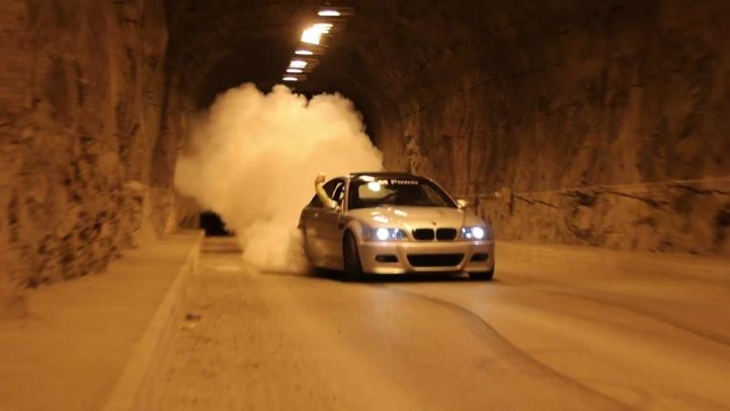 BMW 3-er E-46 M-Power Зверский Дрифт в Туннеле