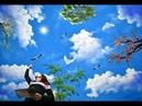 Vẽ trần mây 3d, video tóm tắt trong K.học vẽ tranh tường, do T.tâm Mỹ Thuật Việt 0969033288