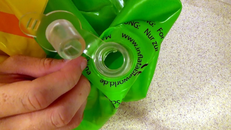 Removing the Safety Flaps from Inflatable Toy Valves