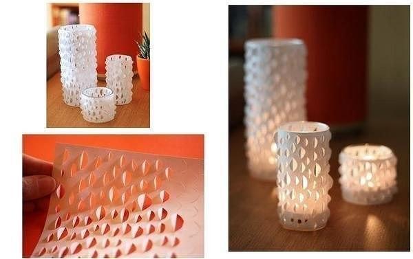 Как сделать абажур из стакана