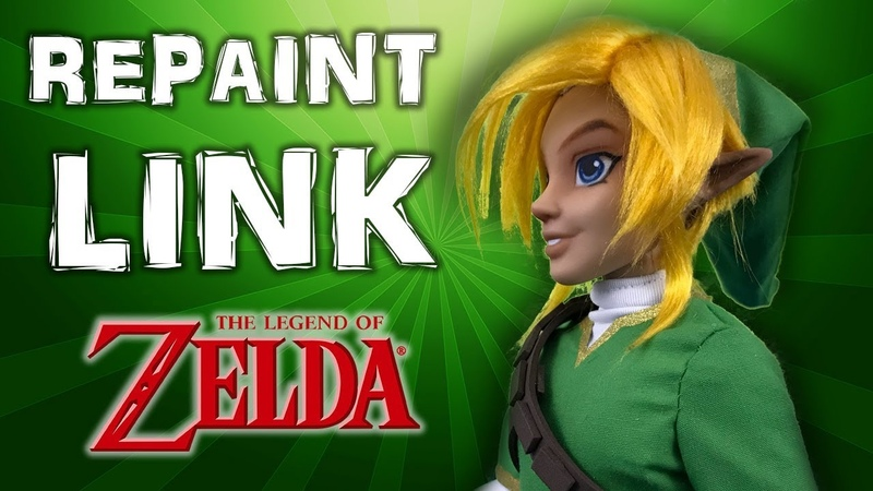 Custom LINK ooak doll tutorial THE LEGEND OF ZELDA