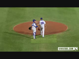 Baseball player has some fun with the camera