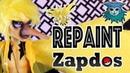 Tutorial Repaint Zapdos Pokémon Heath Burns Ooak custom doll Monster High