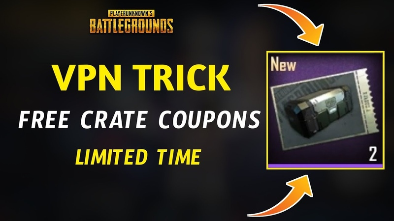 Pubg Mobile New Vpn Trick Get Free Classic Crate Scraps Get Free Crate Coupons