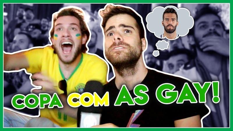 GAYS reagindo a jogo de futebol da COPA 2018 da RÚSSIA - Põe Na Roda