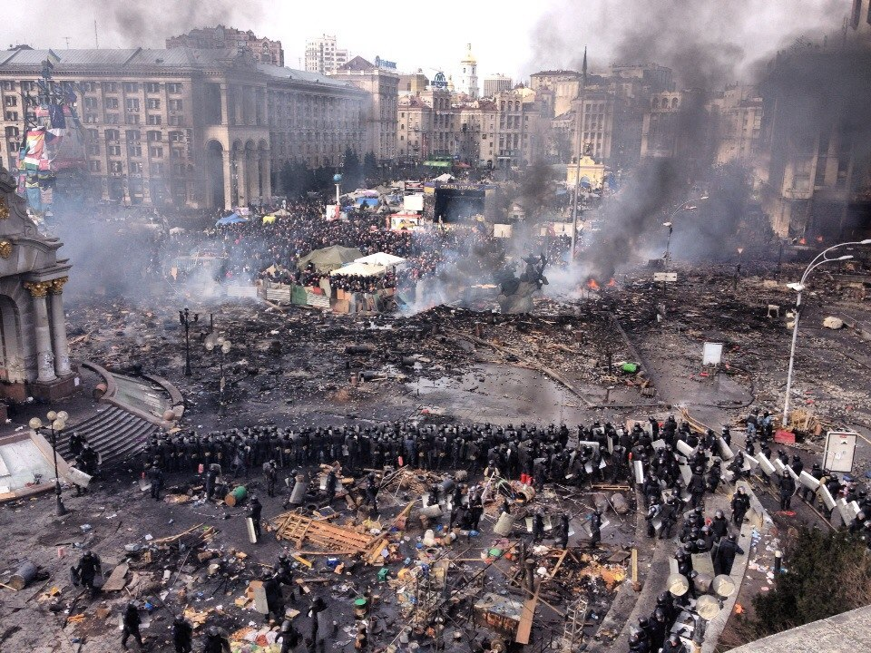 Maidan, Kiev, day 2. Chronicle.