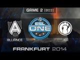 Alliance vs. Invictus Gaming - Semifinals Map 2 - ESL One Frankfurt 2014 - Dota 2