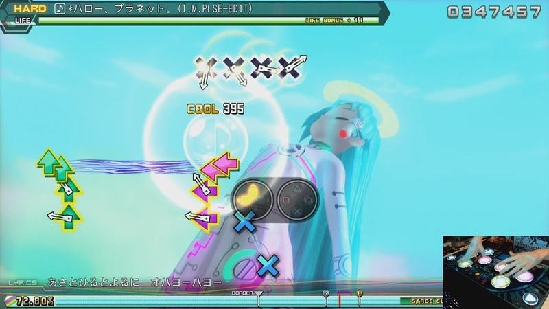 |ARCADE CONTROLLER | Hatsune Miku - *Hello, Planet. | Project DIVA Future Tone DX | HARD PERFECT |