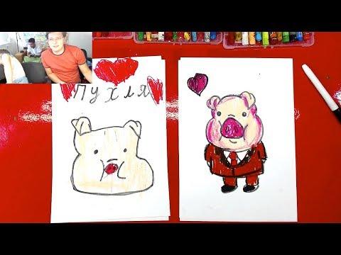 ПУХЛЯ свинья из Гравити Фолз мультик для детей