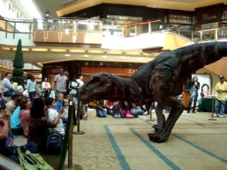 T-Rex Dino invades The Shops at Willow Bend!