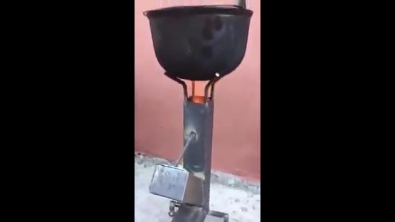 Печь-ракета на дровах