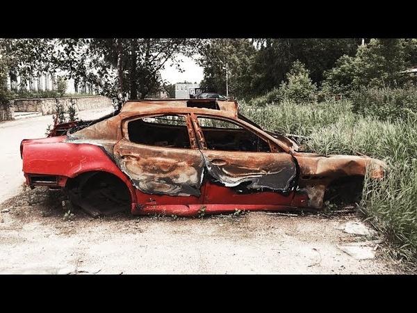 Сгоревший и брошенный Maserati Quattroporte