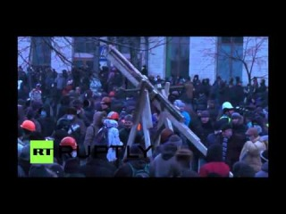 катапульта на митинге в Киеве