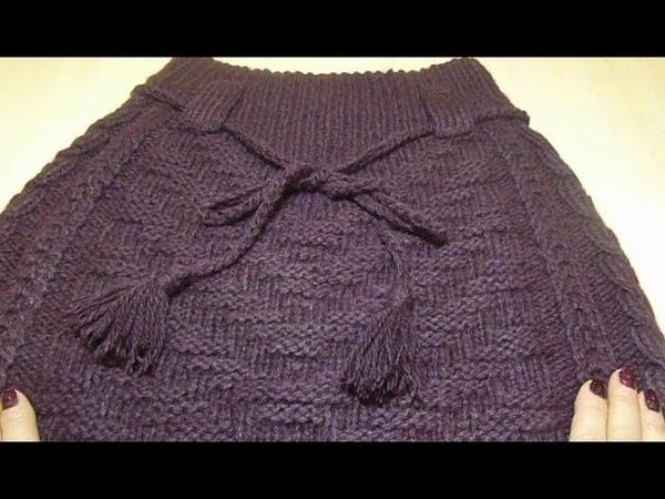 🌺 Юбка с косами классическая Вязание спицами Crochet And Knitting