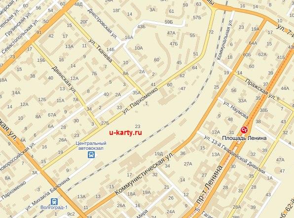 Карта Волгограда подробная
