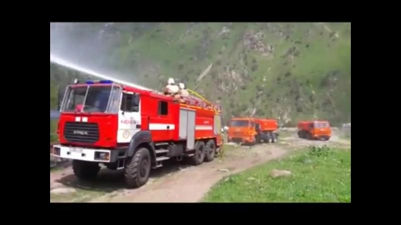 Территория происшествий - В горах Алматы прошли учения по тушению лесных пожаров в горной местности