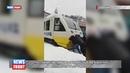 Пассажиры застрявшего экспресса «Киев Борисполь» толкают поезд до аэропорта