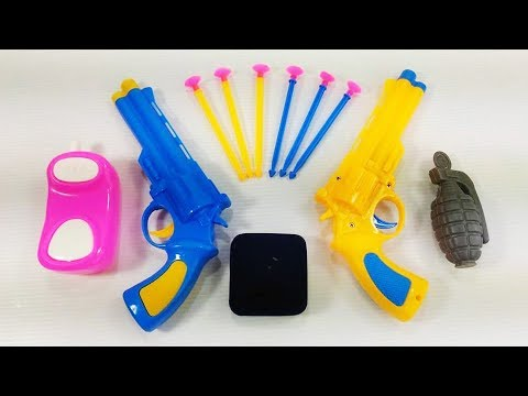 New Realistic Police Toy Guns Set! Box of Guns Toys