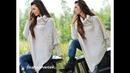 Пуловер Пончо Спицами 2019 Pullover Poncho Spokes