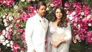 Shahrukh Khan And Gauri Khan At Akash Ambani Grand Wedding