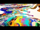 36 Acrylic pouring with a tray and double canvas