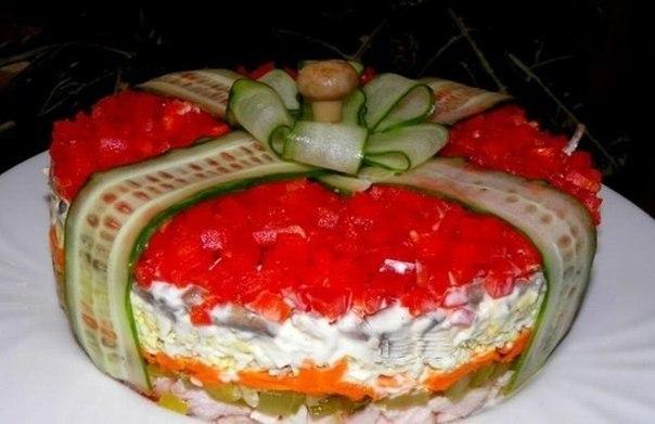 Торт с мармеладом и фруктами рецепт с