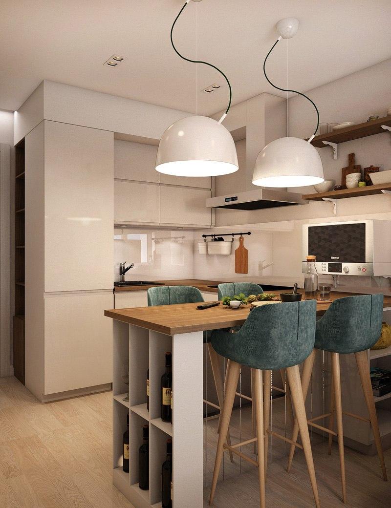 Дизайн-проект квартиры-студии, площадь не указана.