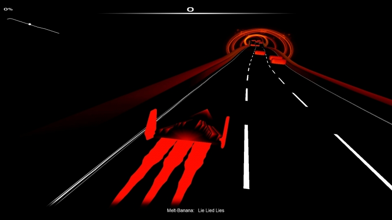 (Audiosurf - Ride Your Music) Melt-Banana - Lie Lied Lies