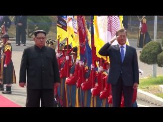 历史性会晤:朝韩领导人举行首轮会谈