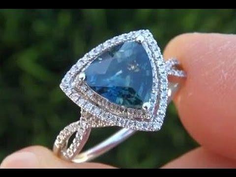 GIA Certified Top Gem VVS2 Sapphire Diamond Ring Solid 14k Gold - Estate Auction