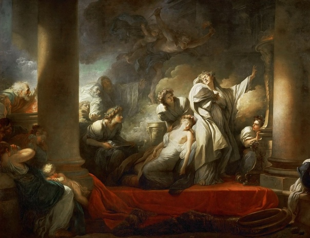 Картина: «Жрец Корез жертвует собой ради Каллирои».