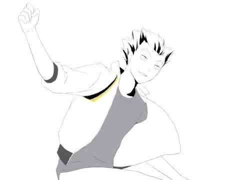 Аниме Волейбол Танец