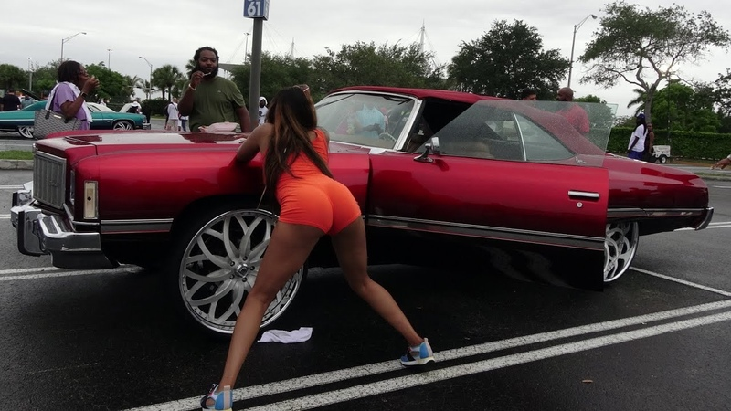 Veltboy314 Donk Day 2018 Preview Whips Girls Big Wheels Candy Paint Miami FL 5 2018