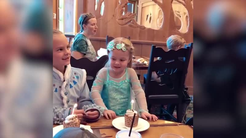 Birthday Girl Falls of Chair Right Before Blowing Candle