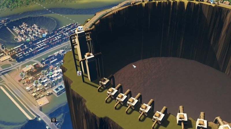 When City Planning in Cities Skylines erupts a Volcano Full of Poop